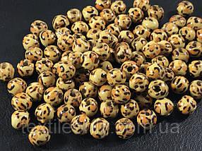 Дерев'яні намистини леопард 9 мм упаковка 100шт