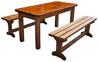 Стол деревянный с лавками. СД-002-1, фото 1
