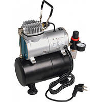 Миникомпрессор безмасл. для аэрографии Miol 81-125 сресивером, 3 литра + фильтр и редуктор