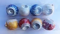 """Игрушка елочная """"Шар цветной Лунка"""" (диаметр 10 см, упаковка 4 шт)"""