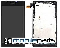 Оригинальный Дисплей (Модуль)+Сенсор (Тачскрин) для Nokia Lumia 540 (С рамкой) (Черный)