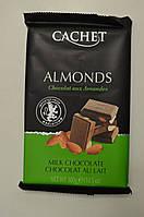Шоколад CACHET 32% молочный с миндалем, 300 г Бельгия, фото 1