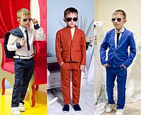 Льняной брючный костюм для подростка №2196п (р.134-158)