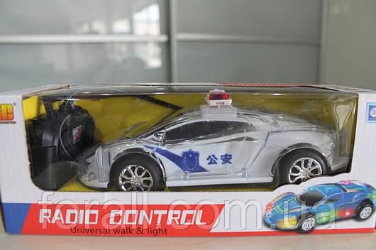 Машинка на радио управлении полицейская 032 на батарейках светящиеся