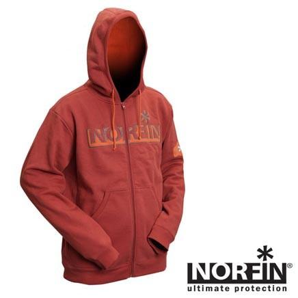 Куртка флисовая с капюшоном Norfin Hoody Red (терракот) АКЦИЯ!!!