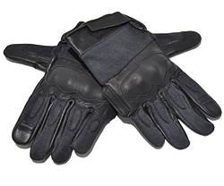Тактические перчатки с кевларовыми вставкам Black MIL-TEC (12504202) размеры S, L, XXL, фото 3