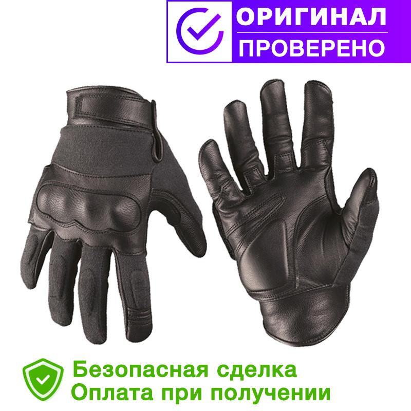 Тактические перчатки с кевларовыми вставкам Black MIL-TEC (12504202) размеры S, L, XXL