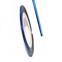 Лента скотч голограмма Синий