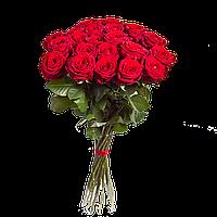 Букет из 15 красных высоких роз сорта Гран при