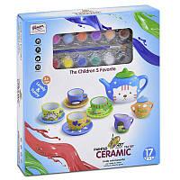 Набор посуды 555 - DIY 001 (36) керамическая с красками, в коробке