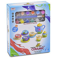 Набор посуды 555 - DIY 003 (48) керамическая с красками, в коробке