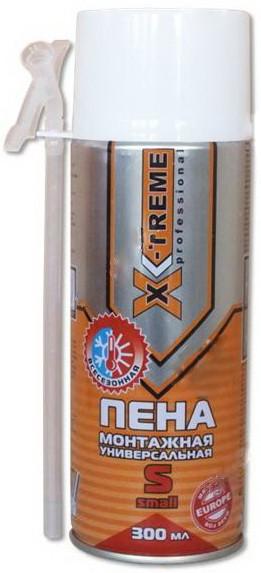 Ручная монтажная пена X-Treme S, 300 мл