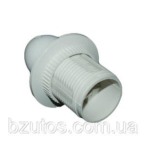 Патрон Е14 пластиковый резьбовой белый