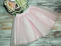 Фатиновая  юбка  30 см светло-розовая( еврофатин)