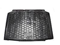 Полиуретановый коврик для багажника Skoda Fabia ІI Хэтчбек с 2007-