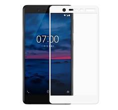 Защитное стекло Mocolo Full сover для Nokia 7 белый