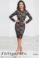 Облегающее платье Флирт черное