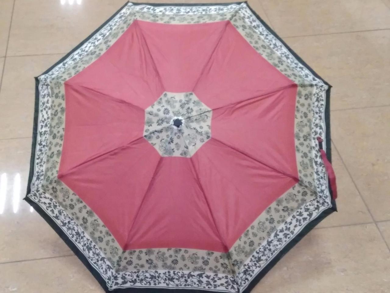 Женский мини зонт  8 спиц  орнамент