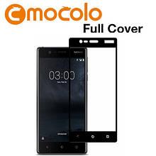 Защитное стекло Mocolo Full сover для Nokia 3 черный
