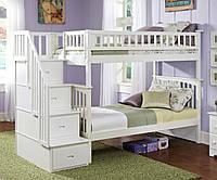 Двухярусная кровать Твин, массив дуб, ясень, фото 1