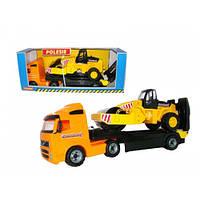 """""""Volvo"""", автомобиль-трейлер + дорожный каток (в коробке) 36902"""