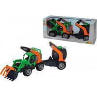 ГрипТрак, трактор-погрузчик с цистерной (в коробке) 37404