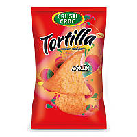 Кукурузные чипсы со вкусом чили Crusti Croc Tortilla 150 г