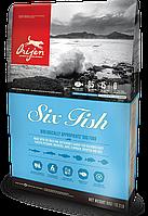 Корм Orijen (Ориджен) Six Fish Dog шесть видов рыб для собак всех пород и возрастов, 6 кг