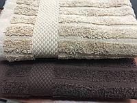 Махровые полотенца 40*75 цвет шоколад