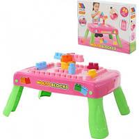 Набор игровой с конструктором (20 элементов) в коробке (розовый) с элементом вращения