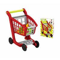 Тележка для супермаркета с продуктами питания, 13 аксес., 18мес. +