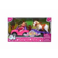 Кукла Эви и джип с трейлером с лошадью, 3+