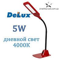 Настольная светодиодная лампа красная 5W DELUX TF-450