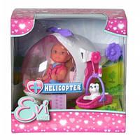 """Кукольный набор Эви """"Спасительный вертолет"""" с собачкой, 3+"""