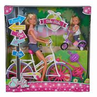 Кукольный набор Штеффи и Еви Прогулка на велосипедах, 3+
