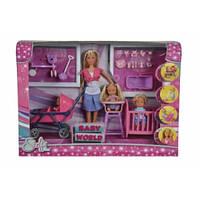 Кукольный набор Штеффи с детьми и аксес., 3+