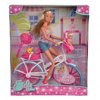 Кукольный набор Штеффи с малышом на велосипеде, 3+