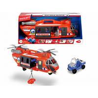 """Функциональный вертолет с 2 винтами """"Спасательная служба"""" с машинкой, со звук. и свет. эффектами,"""