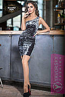 Платье ДИОР (серебряный)