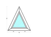 Окно Треугольное Глухое. Одно камерный стекло пакет профиль Salamander Streamline