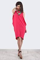 Коктейльное платье с ассиметричным низом, цвета в ассортименте
