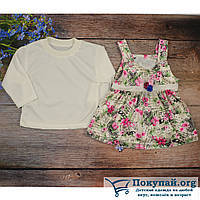 Кофточка+ Платье для малышей Размеры: 1-2-3 года (5808-3)