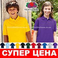 Детская рубашка поло 65/35 Fruit of the loom 63-417-0