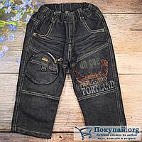 Тёплые чёрные джинсы для малыша Размеры: 1,2,3 года (5811)