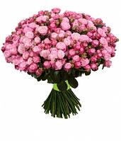 Букет из розы спрей Леди бомбасик розового цвета