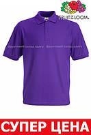 Детская рубашка поло 65/35 Цвет Фиолетовый Размер 9-11 63-417-PE 9-11