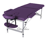 Складной Массажный стол DIO(Фиолетовый) Двухсекционный алюминиевый Доставка бесплатно!!!