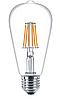Лампа Эдисона светодиодная филаментная 7,5W ST64 Philips E27 2700K, фото 2