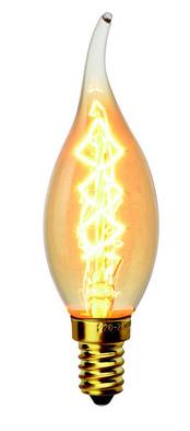 Ретро лампа накаливания 40W VITO свеча на ветру C35Т E14