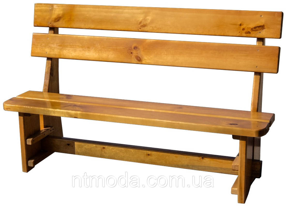 Скамейка деревянная со спинкой. Л-008-1